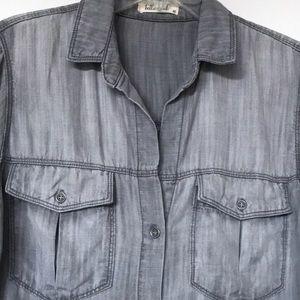 Bella Dahl two pocket button down shirt